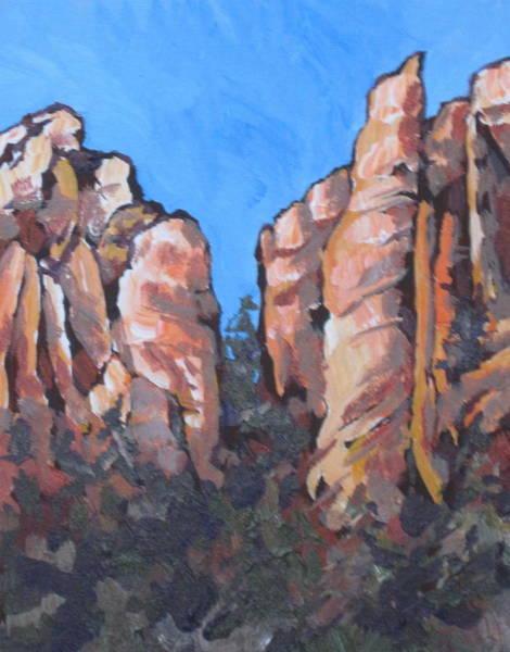 Oak Creek Canyon Painting - Oak Creek Canyon by Sandy Tracey