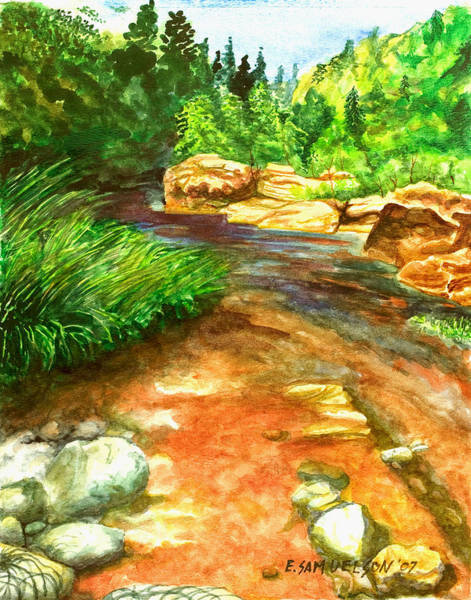 Painting - Oak Creek Red by Eric Samuelson