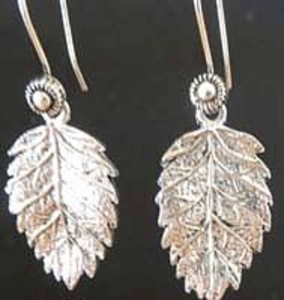 Sterling Silver Wall Art - Jewelry - Oak Leaves by Joan  Jones