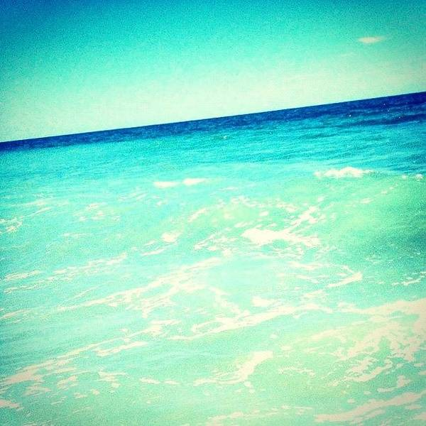 Edit Photograph - #ocean #plain #myrtlebeach #edit #blue by Katie Williams