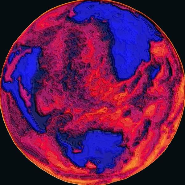 Oceans Of Fire Art Print