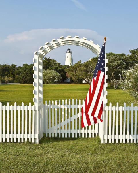 Ocracoke Lighthouse Photograph - Ocracoke Lighthouse July 4th by Bill Swindaman