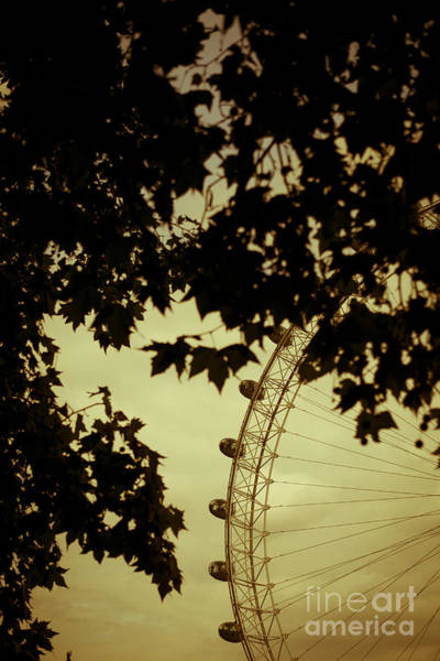 London Eye Photograph - October Mist by Jan Bickerton