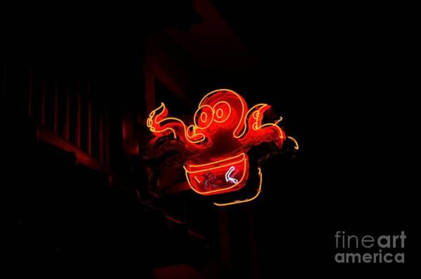 Wall Art - Photograph - Octopus Neon by Dean Harte