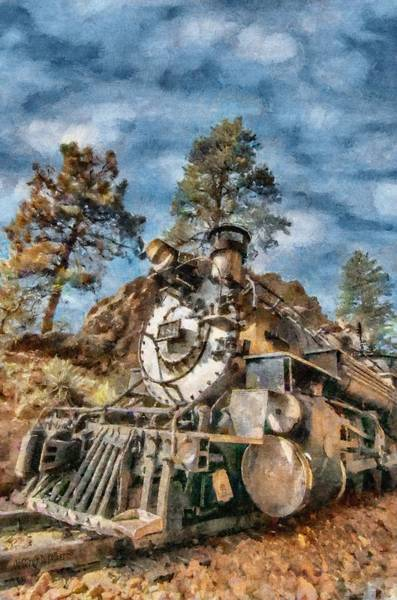 Wall Art - Painting - Of Mountain And Machine by Jeffrey Kolker