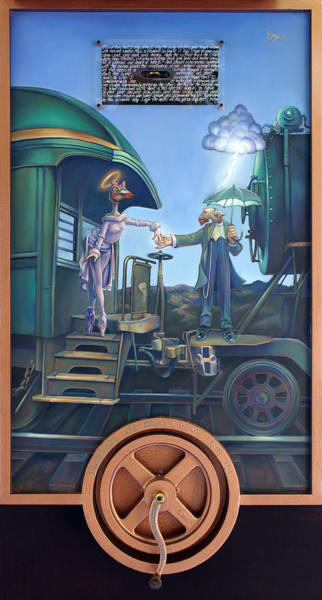 Trains Painting - Of Thee I Sing The Body Electric by Patrick Anthony Pierson