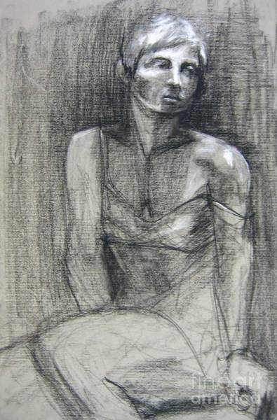Art Print featuring the drawing Off The Shoulder by Gabrielle Wilson-Sealy