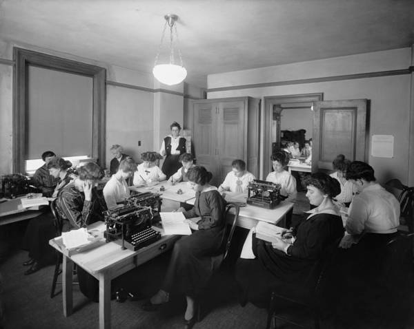 Remington Photograph - Office With Many Women Performing by Everett
