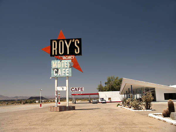 Middle Of Nowhere Photograph - Route  66  Roys by Joe Schofield