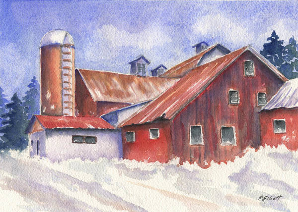 Wall Art - Painting - Ohio Barn by Marsha Elliott