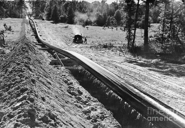 Photograph - Oil Pipeline, C1944 by Granger