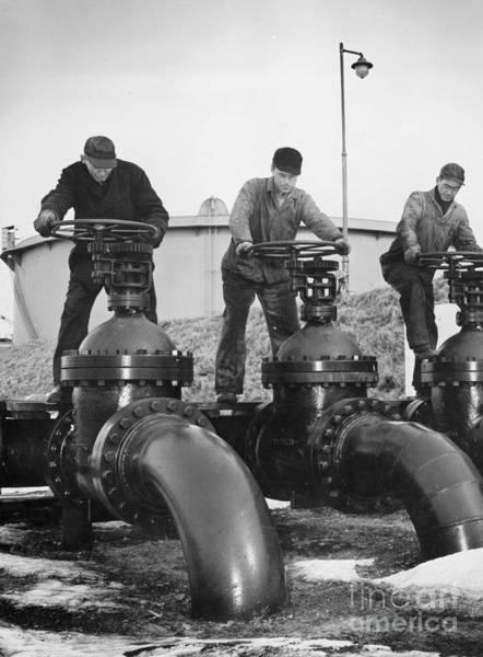 Photograph - Oil Valves, C1944 by Granger