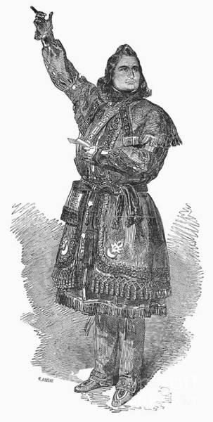 Temperance Movement Photograph - Ojibwa Chief, 1850 by Granger