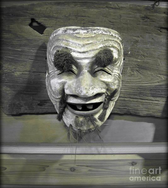 Photograph - Ojisan Noh Mask by Eena Bo