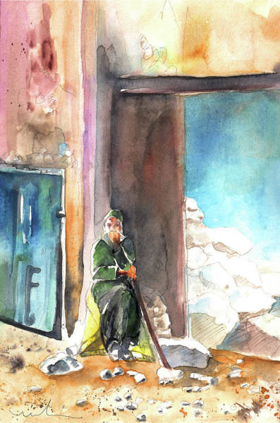 Painting - Old And Lonely In Morocco 02 by Miki De Goodaboom
