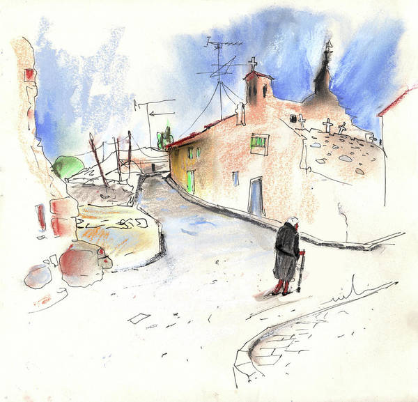 Ribera Del Duero Painting - Old And Lonely In Spain 02 by Miki De Goodaboom