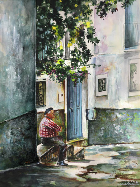 Painting - Old And Lonely In Spain 08 by Miki De Goodaboom