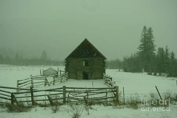 Wall Art - Photograph - Old Barn In A Snow Fall  by Jeff Swan