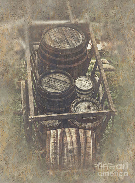 Photograph - Old Barrels by Jutta Maria Pusl