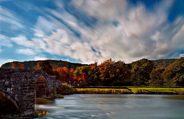 Photograph - Old Bridge In The Fall by Beverly Cash