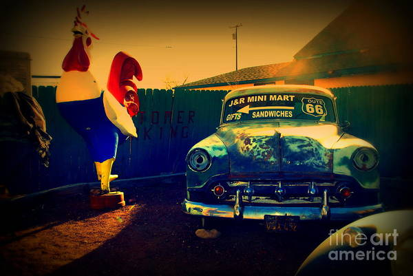 Photograph - Old Chevrolet On Route 66 by Susanne Van Hulst