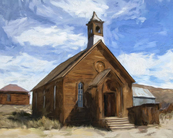 Bodie Painting - Old Church At Bodie by Dominic Piperata