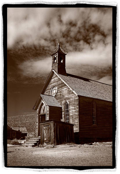 Ghosttown Photograph - Old Church In Bodie California by Steve Gadomski