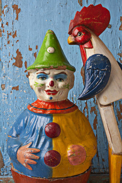 Roster Wall Art - Photograph - Old Clown And Roster by Garry Gay