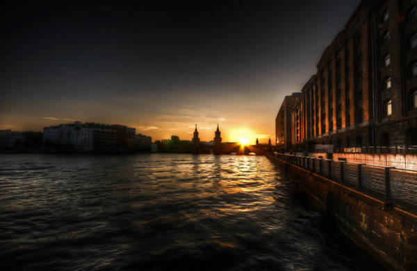 Fernsehturm Photograph - Old Docks Sunset. by Nathan Wright
