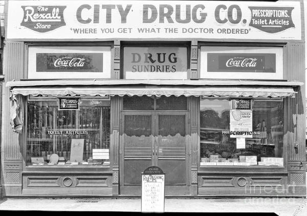 Wall Art - Photograph - Old Drug Store Circa 1930 by Cris Hayes