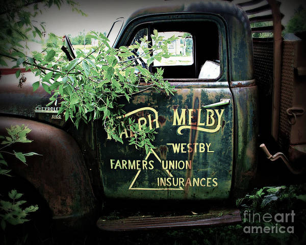 Wall Art - Photograph - Old Farmers Union Truck by Perry Webster