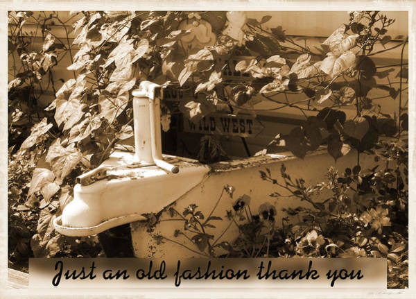 Photograph - Old Fashion Thank You Card by Susan Kinney