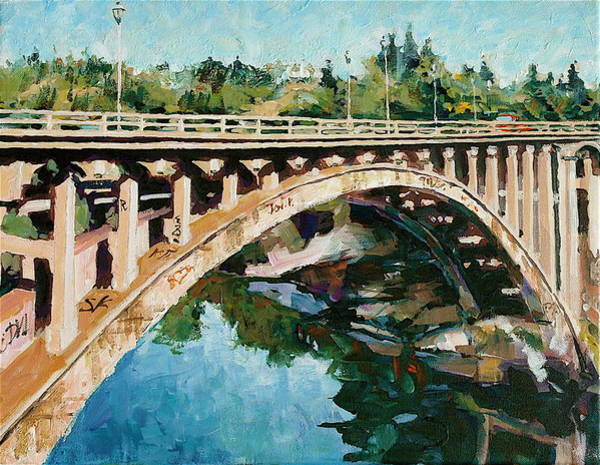 Painting - Old Folsom Bridge by David Lobenberg