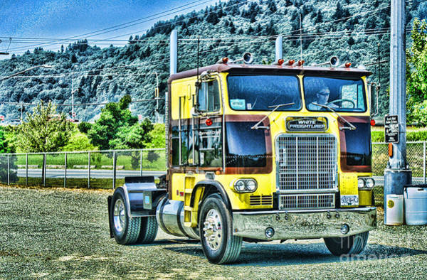Wall Art - Photograph - Old Freightliner Coe-hdr by Randy Harris
