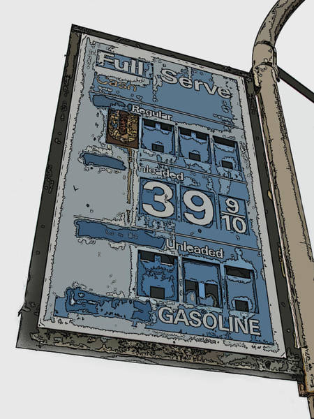 Photograph - Old Full Service Gas Station Sign by Samuel Sheats