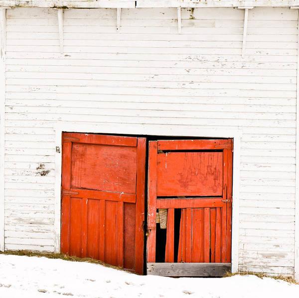 Photograph - Old Garage Doors by Edward Fielding