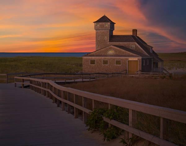 Provincetown Harbor Photograph - Old Harbor U.s. Life Saving Station by Susan Candelario