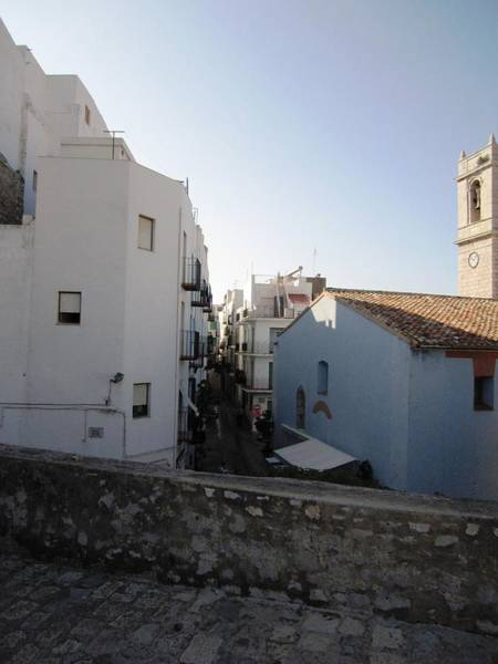 Photograph - Old Homes Next To Peniscola Castle In Spain by John Shiron