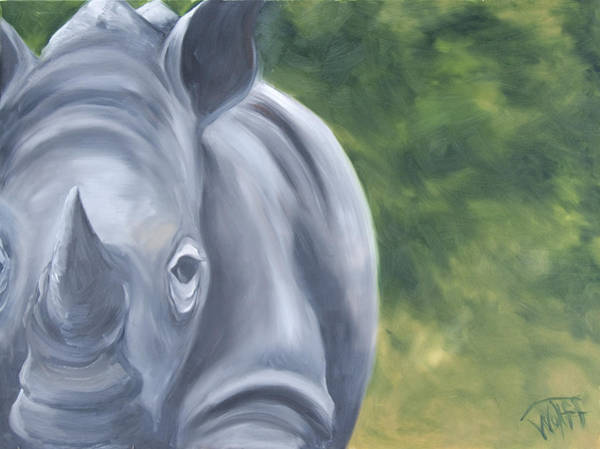 Rhinocerus Painting - Old Ironsides by Thea Wolff