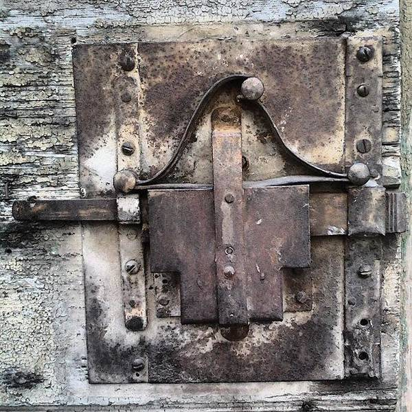 Ancient Photograph - Old Lock by Nic Squirrell