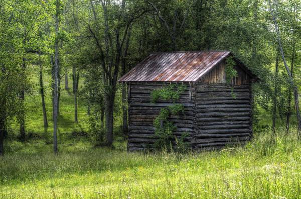 Wall Art - Photograph - Old Log Barn by Steve Hurt