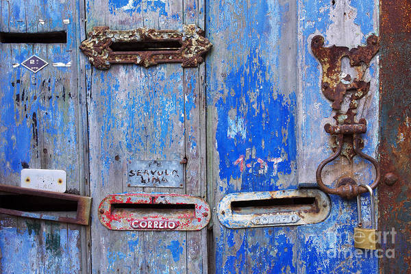 Mail Slot Photograph - Old Mailboxes by Carlos Caetano