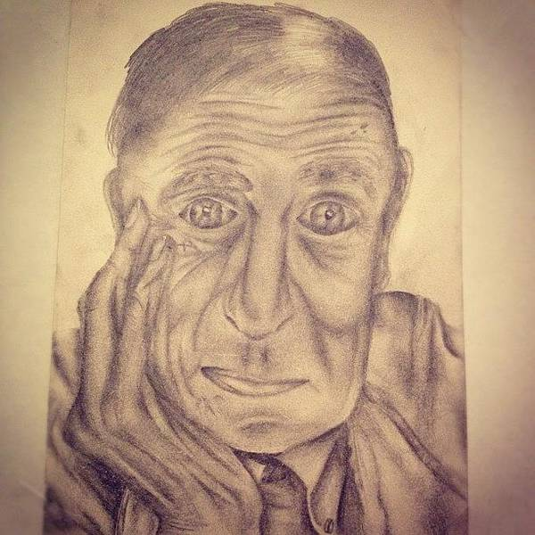 Grace Wall Art - Photograph - #old #man #face #wrinkles #hand #nails by Grace Shine