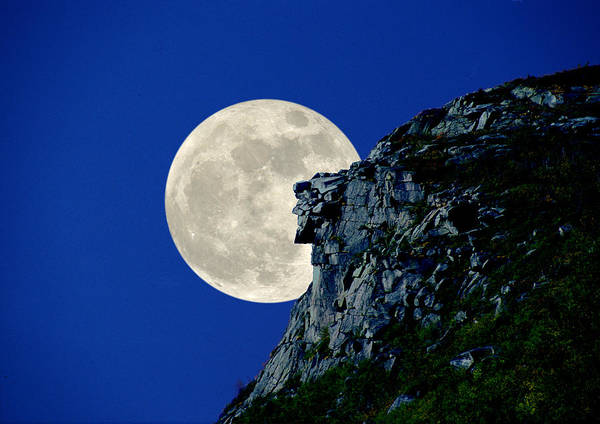 Photograph - Old Man Meets The Man In The Moon by Larry Landolfi