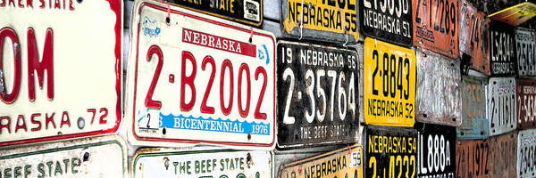 Photograph - Old Nebraska Plates by Pam  Holdsworth