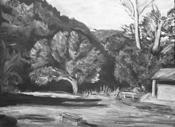Painting - Old Oak Marion Bear Bw  by Jeremy McKay