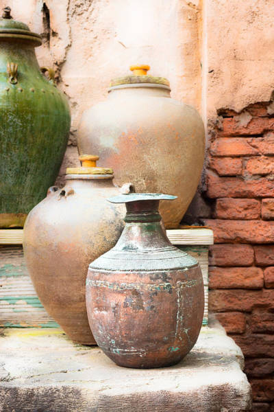 Clay Pot Photograph - Old Pots by Tom Gowanlock