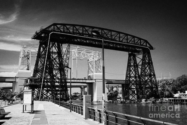 Riachuelo Photograph - Old Puente Transbordador Bridge Across The Riachuelo River La Boca Capital Federal Buenos Aires by Joe Fox