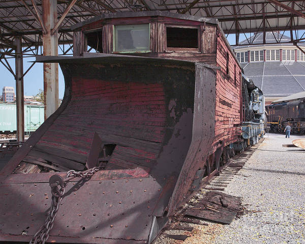 Museum Wall Art - Photograph - Old Railroad Snowplow At The B And O Railroad Museum In Baltimore Maryland by William Kuta