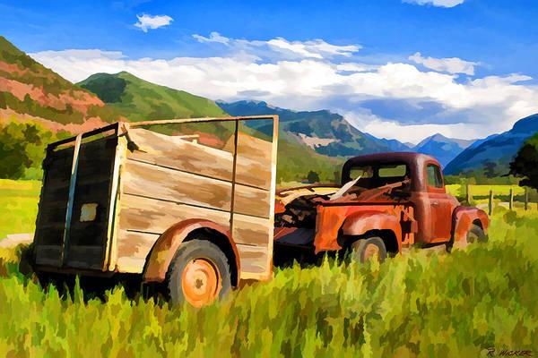 Digital Art - Old Ranch Truck by Rick Wicker